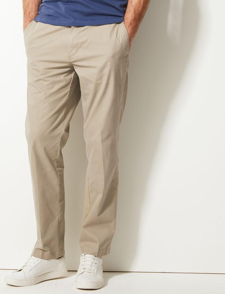 Regular Fit Pamuklu Chino Pantolon