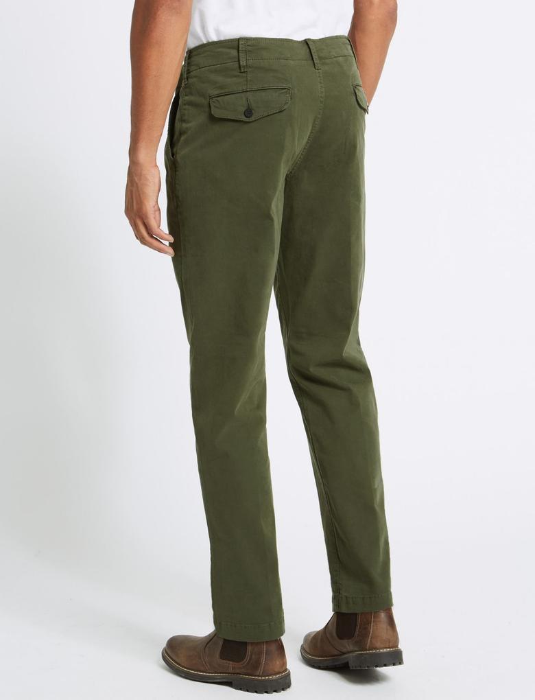 Slim Fit Pamuklu Authentic Chino Pantolon