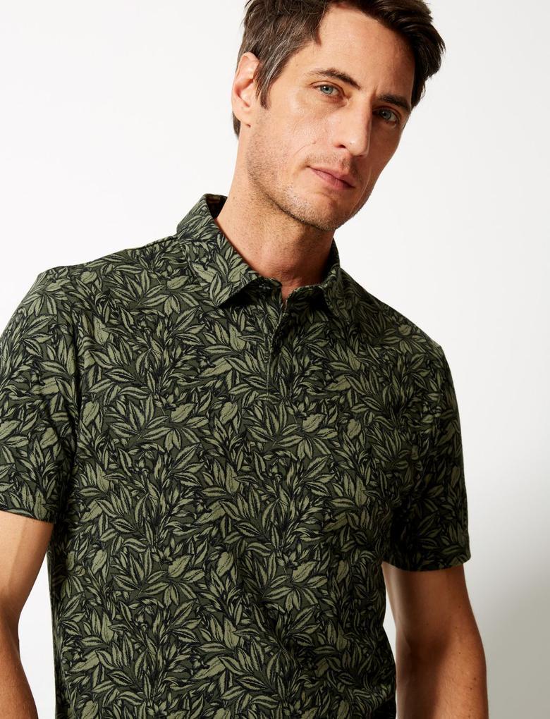 Slim Fit Saf Pamuklu Polo Yaka T-Shirt