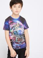 Erkek Çocuk Multi Renk Pamuklu T-Shirt