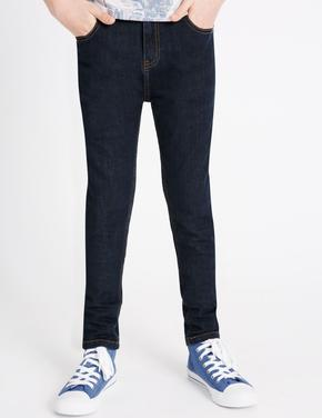 Erkek Çocuk Mavi Skinny Leg Streç Jean Pantolon