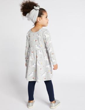 Unicorn Desenli Elbise