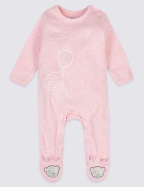 2'li Saf Pamuklu Tulum Pijama Seti