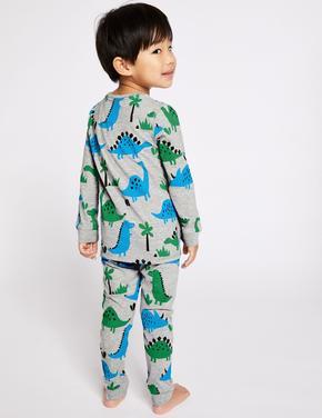 Pamuklu Dinosaur Pijama Takımı