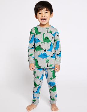 HIZLI GÖRÜNÜM Pamuklu Dinosaur Pijama Takımı ... f31ddeeda1a