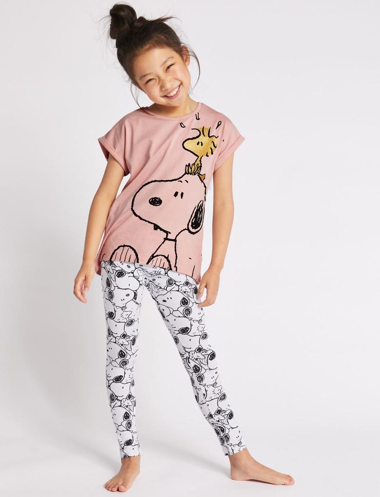 Pembe Snoopy™ Pijama Takımı