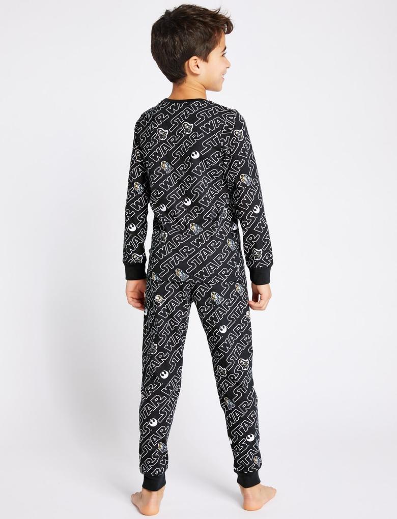 Siyah Star Wars™ Pijama Takımı