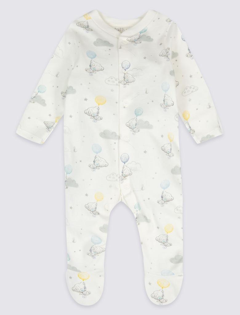 Pembe 2'li Saf Pamuklu Tulum Pijama Seti