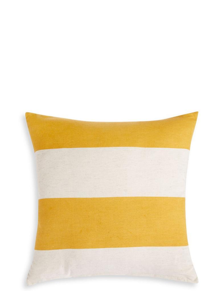 Kahverengi Çizgi Desenli Yastık