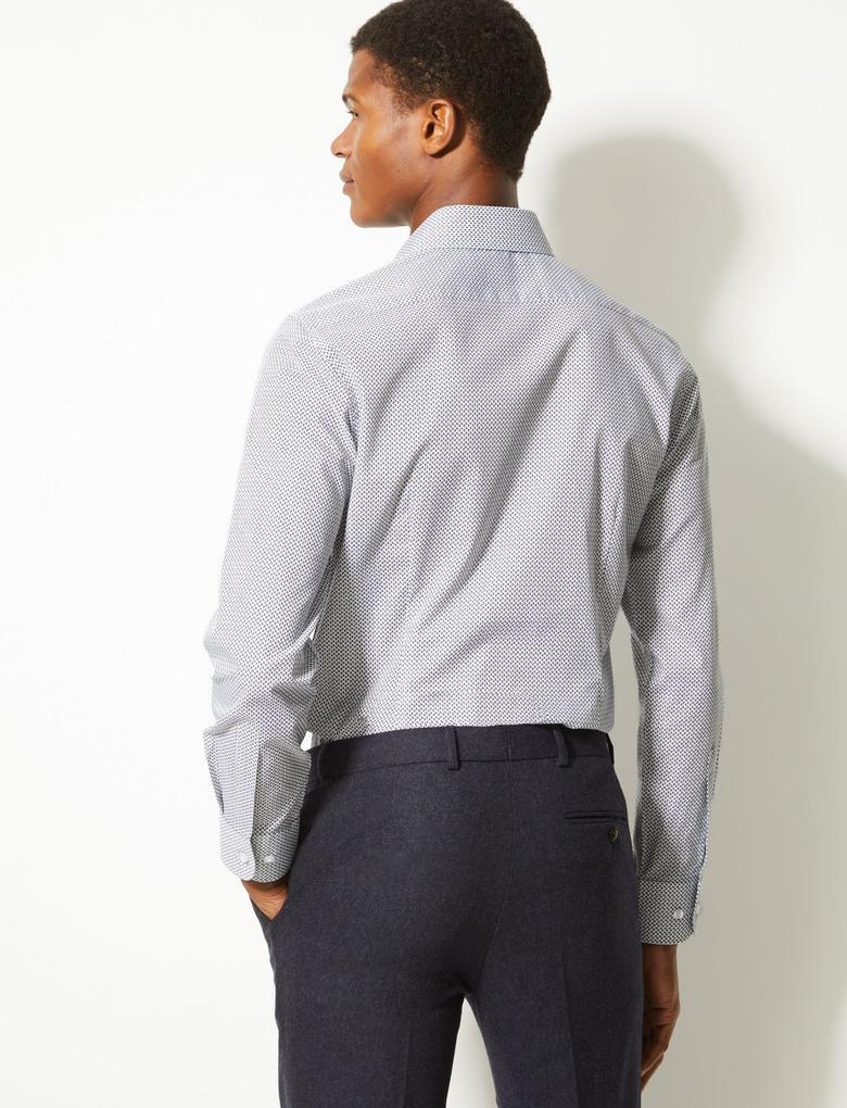 Pamuklu Skinny Fit Gömlek