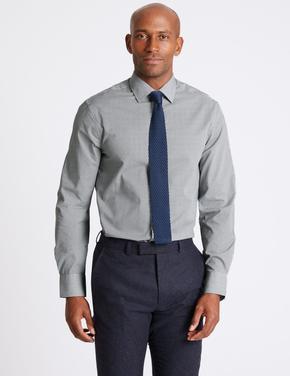 3'lü Pamuklu Slim Fit Gömlek