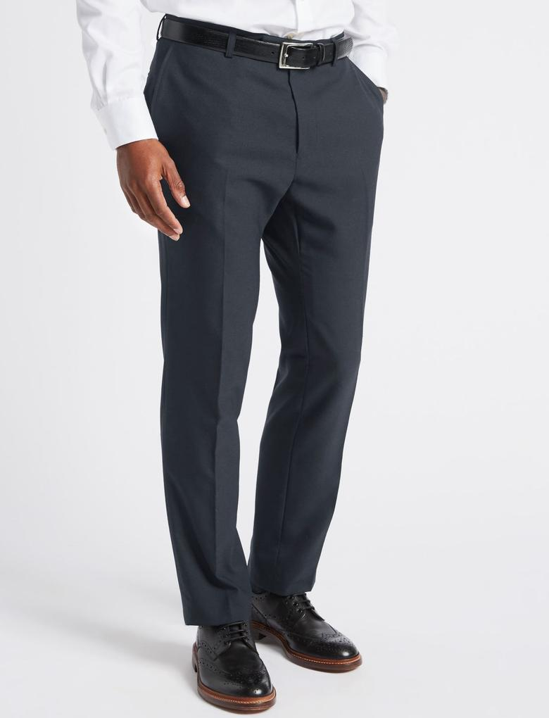 Erkek Lacivert Lacivert Slim Fit Pantolon