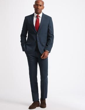 Indigo Ekose Tailored Fit Ceket