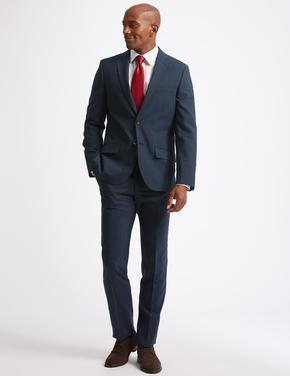 Indigo Ekose Tailored Fit Ceket