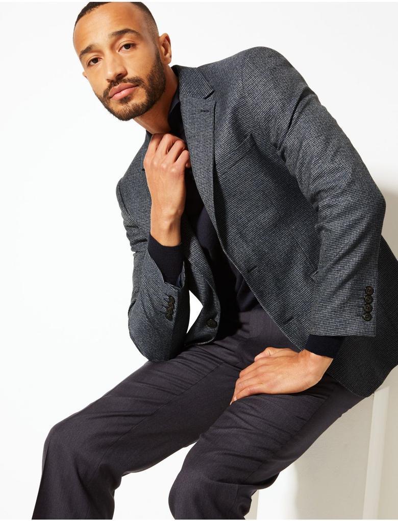 Gri Tailored Fit Ceket