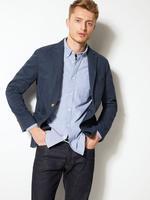 Saf Pamuklu Tailored Fit Ceket