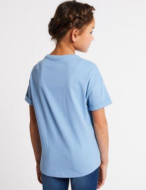 Saf Pamuklu Pullu Bluz