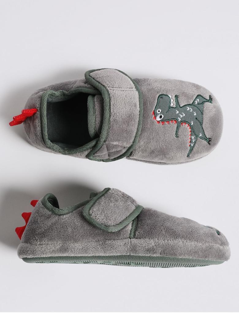 Dinozor Desenli Terlik Ayakkabı