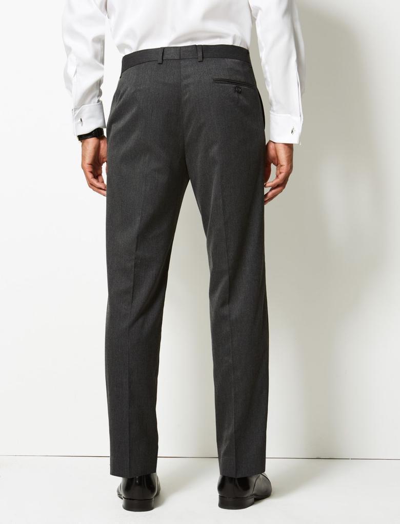 Gri Regular Fit Pantolon