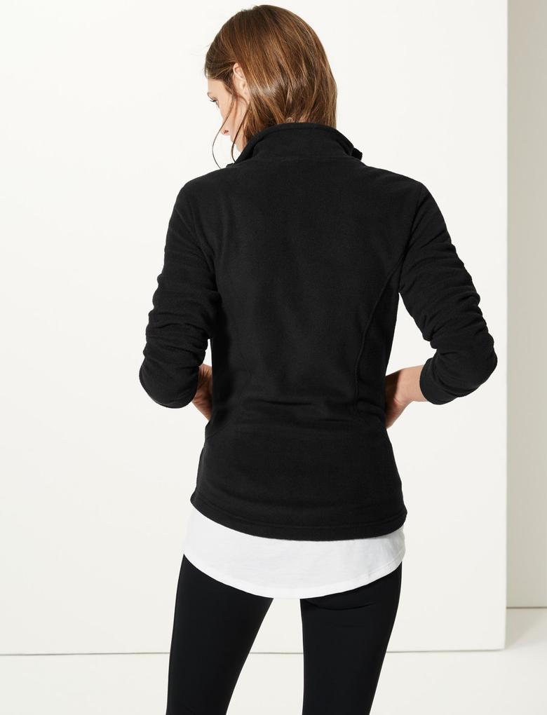 Kadın Siyah Polar Sweatshirt