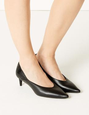 Siyah Sivri Burunlu Topuklu Ayakkabı