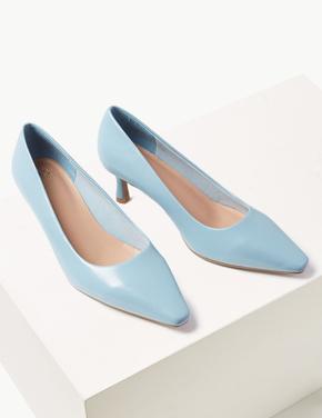 Kare Burunlu Topuklu Ayakkabı