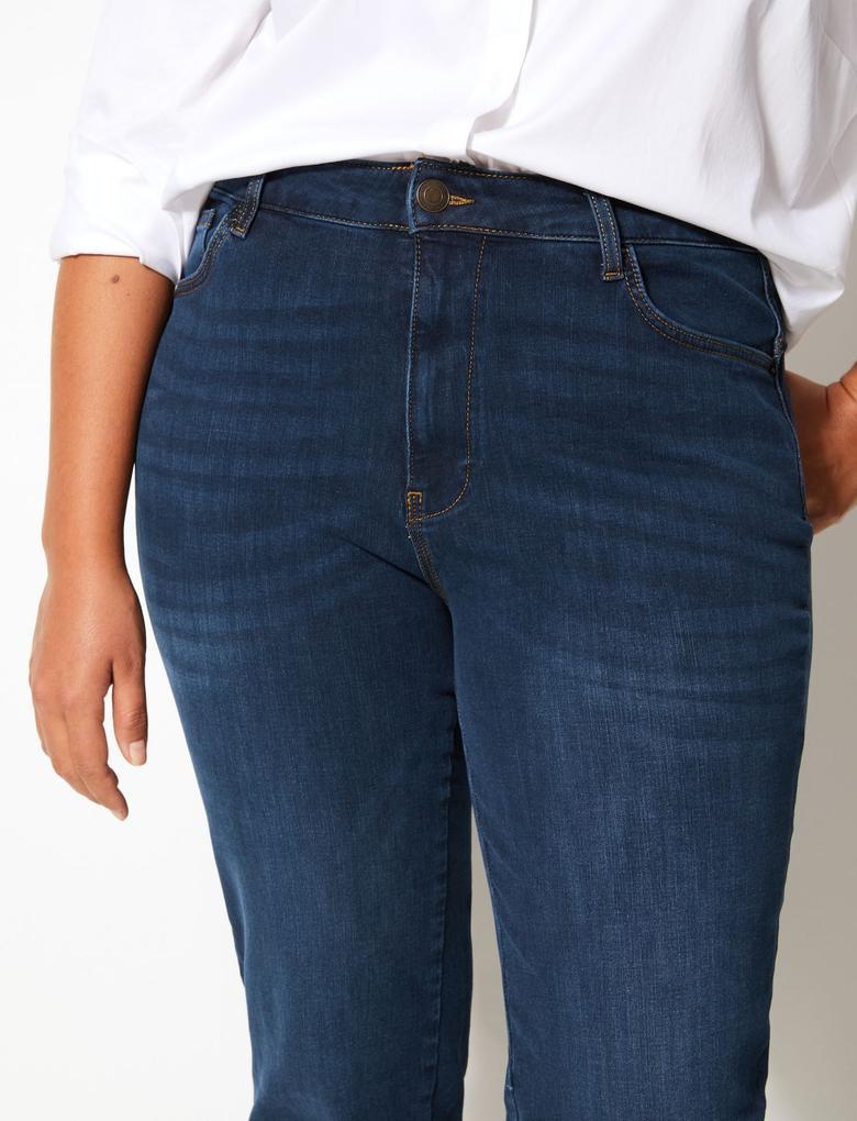 CURVE 360 Contour Yüksek Belli Straight Jean Pantolon
