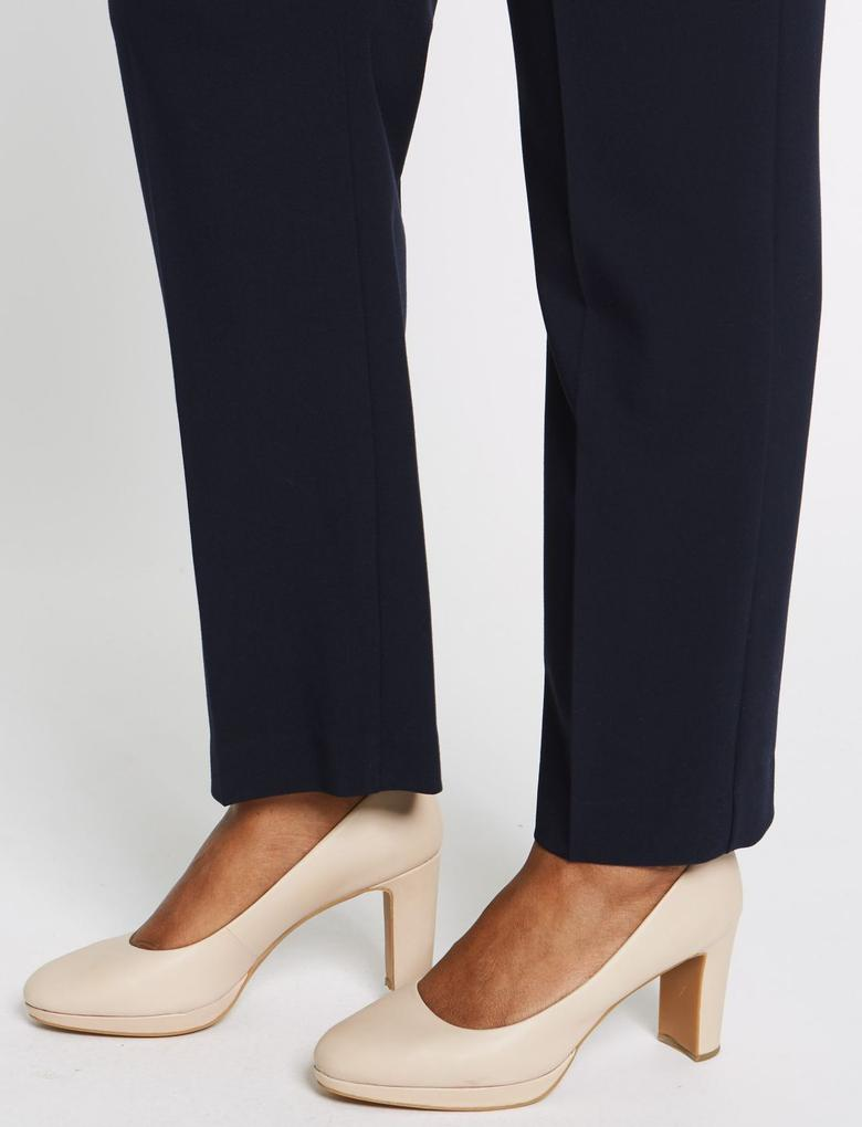 Kadın Lacivert CURVE Straight Leg Pantolon