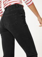 Siyah Orta Belli Slim Leg Jean Pantolon