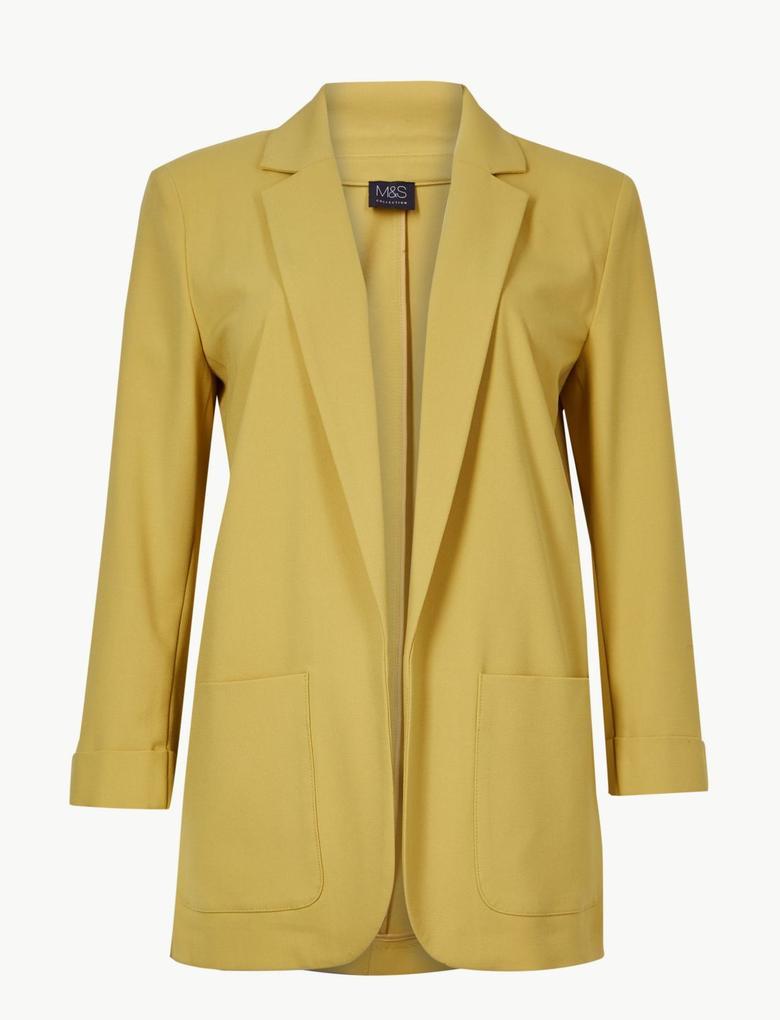 Sarı Relaxed Blazer Ceket