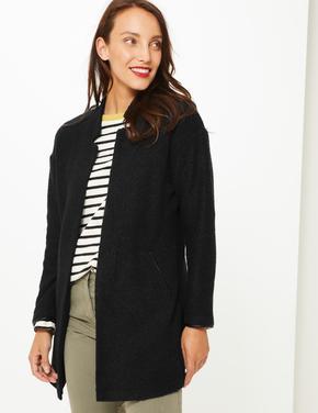 Önü Açık Uzun Ceket