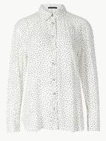Puantiyeli Uzun Kollu Gömlek