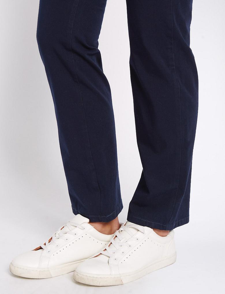 Pamuklu Esnek Straight Pantolon