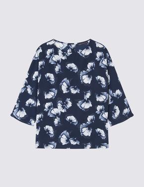 3/4 Kollu Kimono Bluz