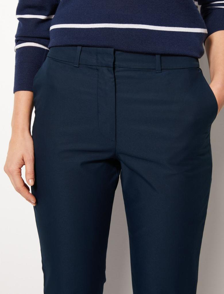 Pamuklu Tapered Leg Chino Pantolon