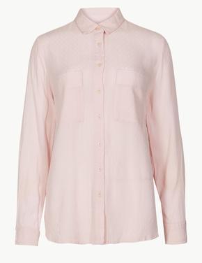 Pembe Uzun Kollu Gömlek