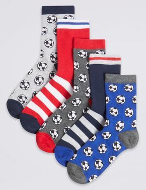 5 Çift Desenli Çorap