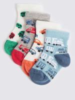 Bebek Multi Renk 4 Çift Desenli Çorap