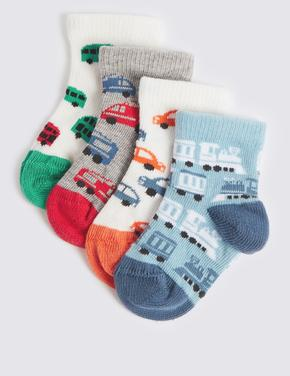 4 Çift Desenli Çorap