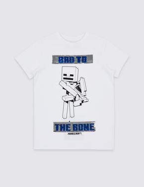 Minecraft™ Saf Pamuklu T-Shirt