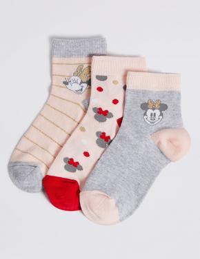 3 Çift Minnie Mouse™ Desenli Çorap