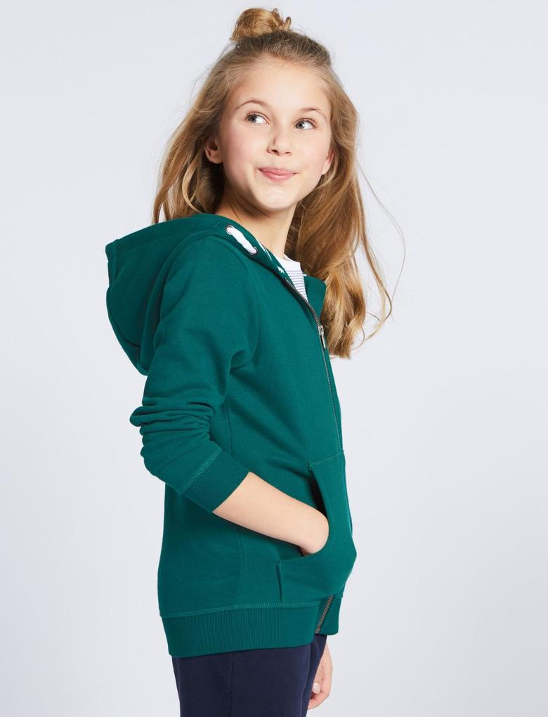Pamuklu Fermuarlı Sweatshirt