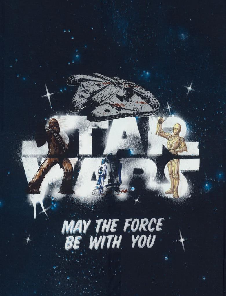Ev Lacivert Star Wars™ Desenli Yatak Takımı