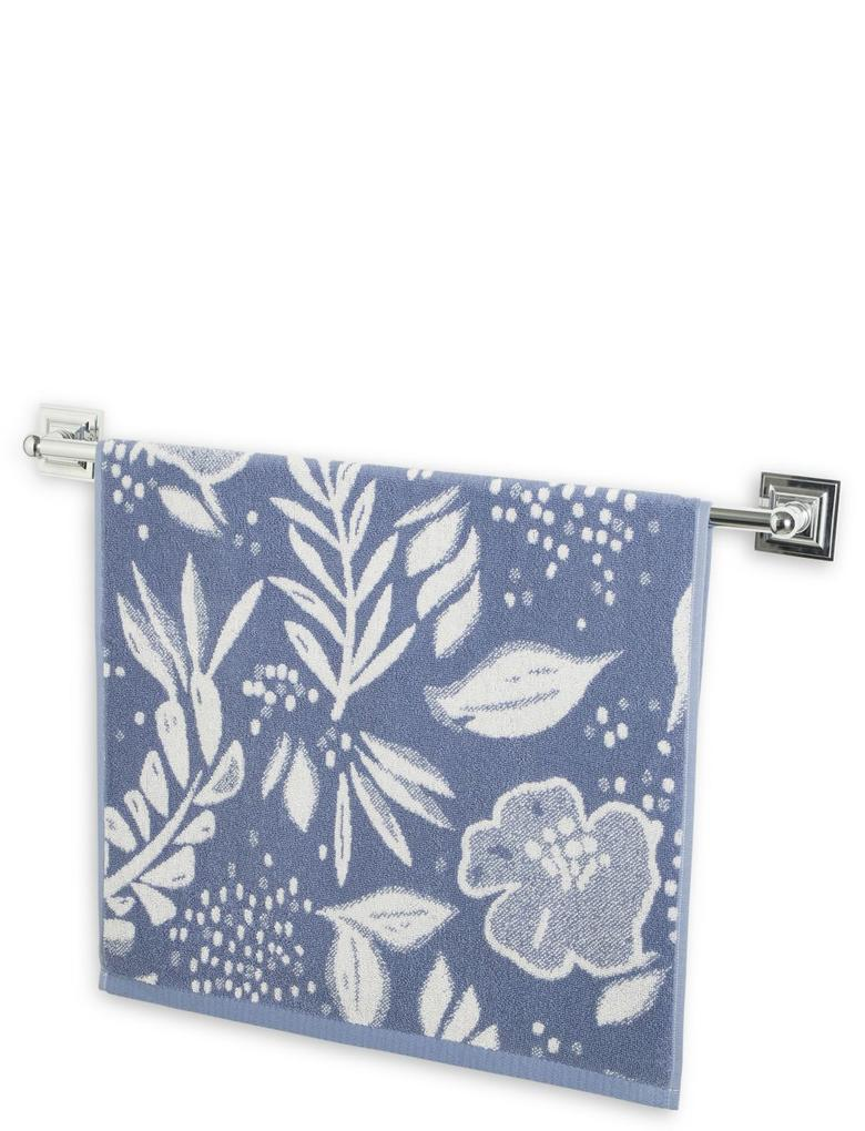 Mavi Çiçek Desenli Havlu