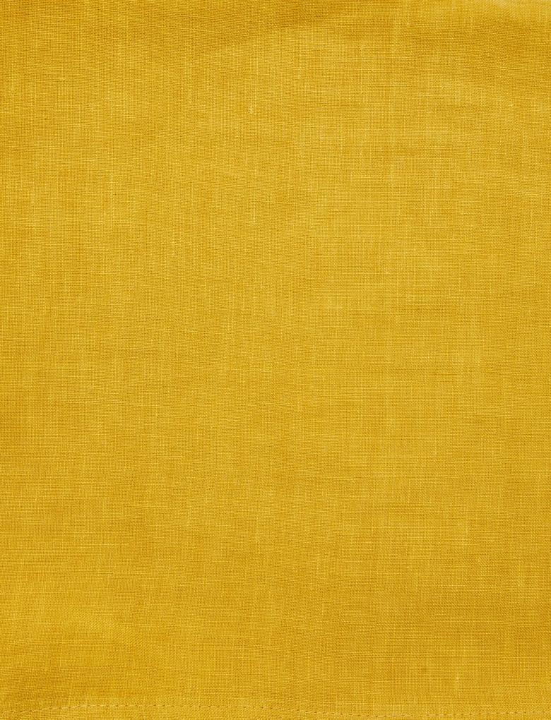 Kahverengi 4'lü Pastel Renkli Keten Masa Peçetesi
