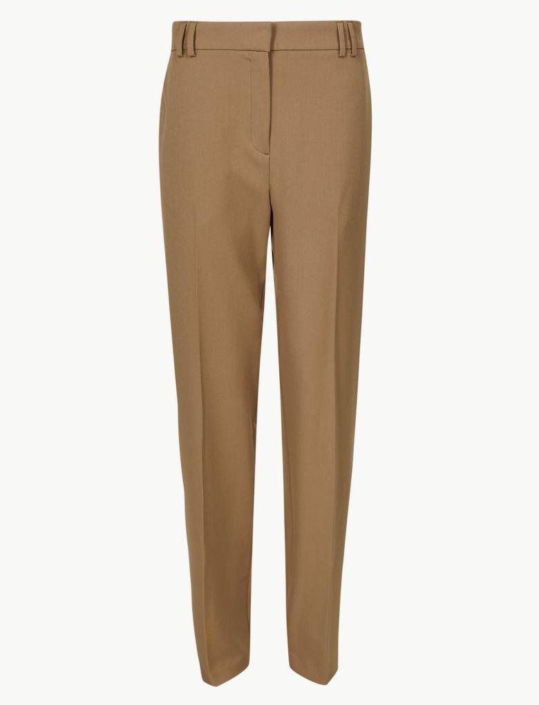 Kahverengi Relaxed Straight Leg Pantolon