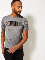 Active Sıfır Yaka Baskılı T-Shirt