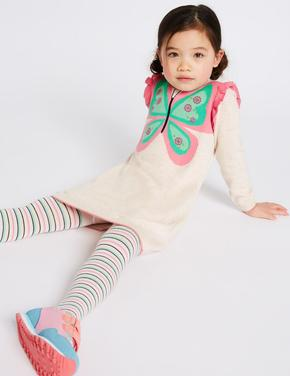2 Parça Elbise ve Külotlu Çorap Seti