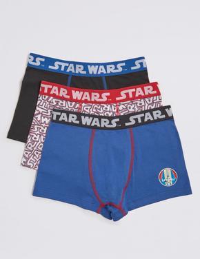 3'lü Star Wars Desenli Boxer Seti