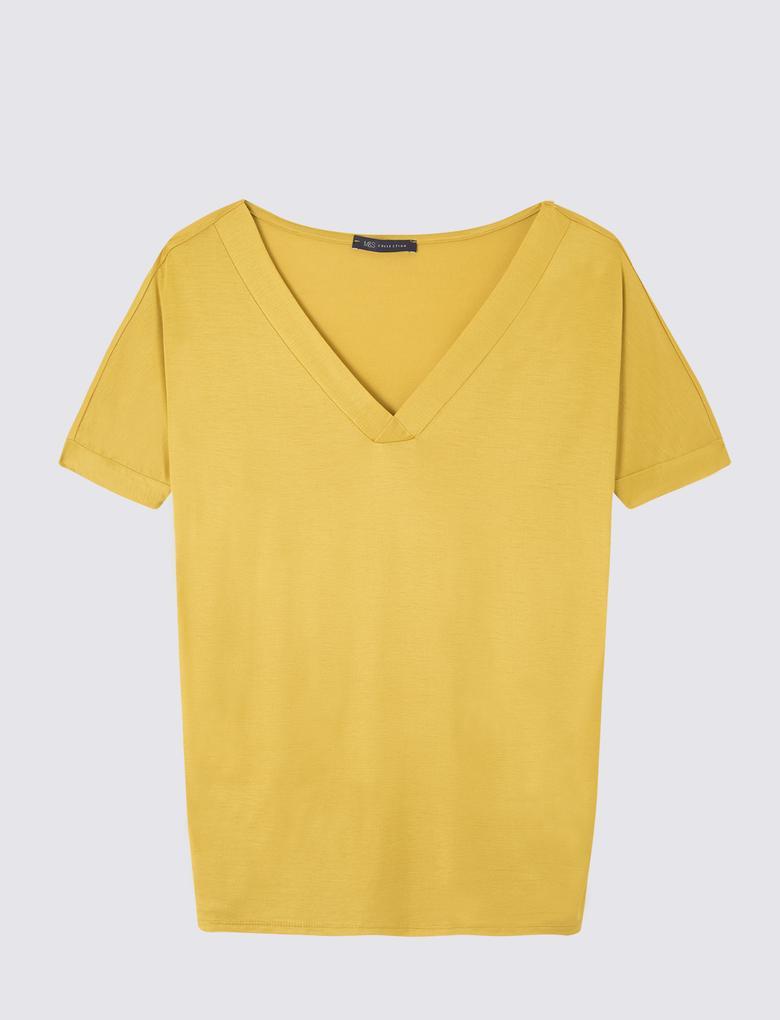 Kısa Kollu Merserize T-Shirt